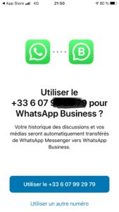 WhatsApp Business Jacky Lacherest