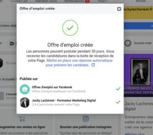 Créer une offre d'emploi Facebook 002