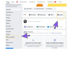 Créer une offre d'emploi Facebook 007